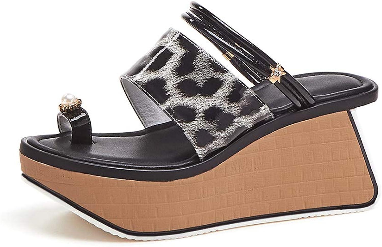 Sandalen Keilabsatz Lackleder Plateau Sexy Strass MWOOOK-936 Mode Lssige Wedges Schuhe Freizeit Peep Toe Strandschuhe