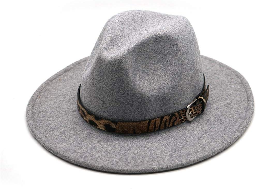 Popular standard PokemHent Unisex Wool Albuquerque Mall Felt Jazz Fedora with Hat Pana Wide Waist