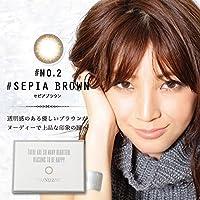 FLOAT LEAF マンスリー 1ヶ月 1箱1枚入り SEPIA BROWN セピアブラウン (-4.25) 吉田怜香 (レイチェル) プロデュース カラコン