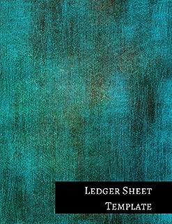 Ledger Sheet Template: One Column Columnar Format
