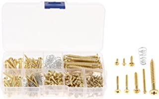 F Fityle 226 Pieces Guitar Screw Kit 9 Types Assortment for Guitar Pickup Tuner Switch Buttons Mounting Repairing Project...