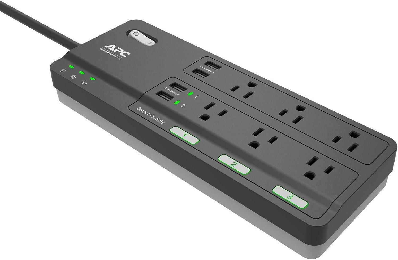 APC Smart Plug Wi-Fi Power Strip with USB Ports