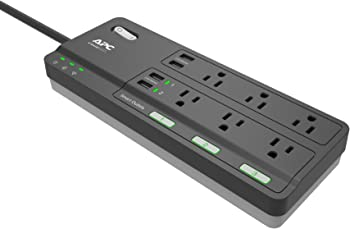 APC Smart Plug Surge Protector Power Strip With 6 Outlets