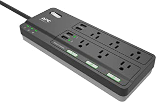 APC Smart Plug Surge Protector Power Strip, 3 Alexa Smart Plugs, 6 Outlets Total with 2160 Joules of Surge Protection, WiFi Smart Plug Outlet Works with Alexa Echo, No Hub Required (PH6U4X32), Black