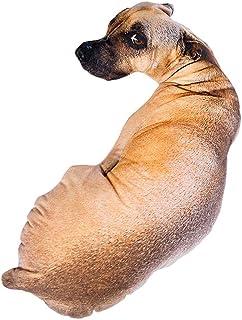 HSDCK Divertida Banda Modelo del Perro 3D Amortiguador de la Almohadilla de la Almohadilla Divertida Felpa Perro Juguete Animal Throw Almohada con Forma de muñeca rellena Suave del Animal,A,70cm