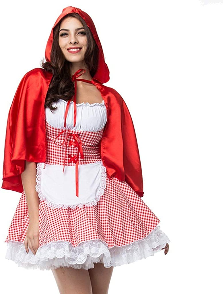 Kangma Halloween Women Cosplay Witch Dance Party Dress+Shawl with Hat Clothes Set Suit