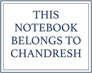 This Notebook Belongs to Chandresh