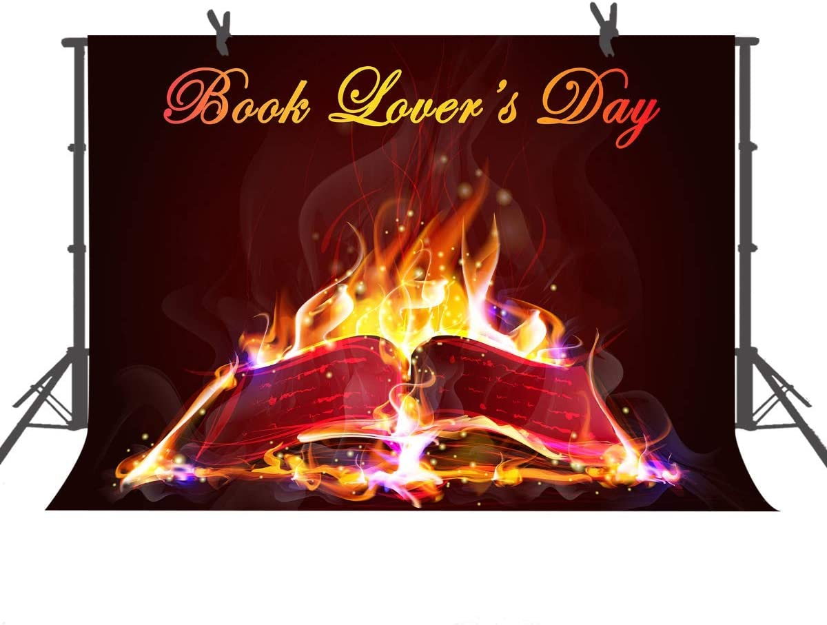 15x10ft Background Book Lovers Day Photography Backdrop Photo Props Event Poster LHFU439
