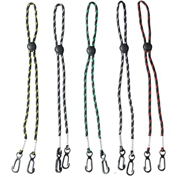 Kids Face Mask Lanyards,Adjustable Length Mask Lanyard for Women,Convenient Safety Mask Holder for Adults,Comfortable Around The Neck Rest Ear Saver - Easy On & Off(5PC)