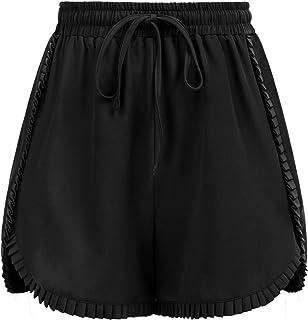 GRACE KARIN Pantalones Cortos Mujer Verano con Pretina Elástica Cintura Alta Pantalones