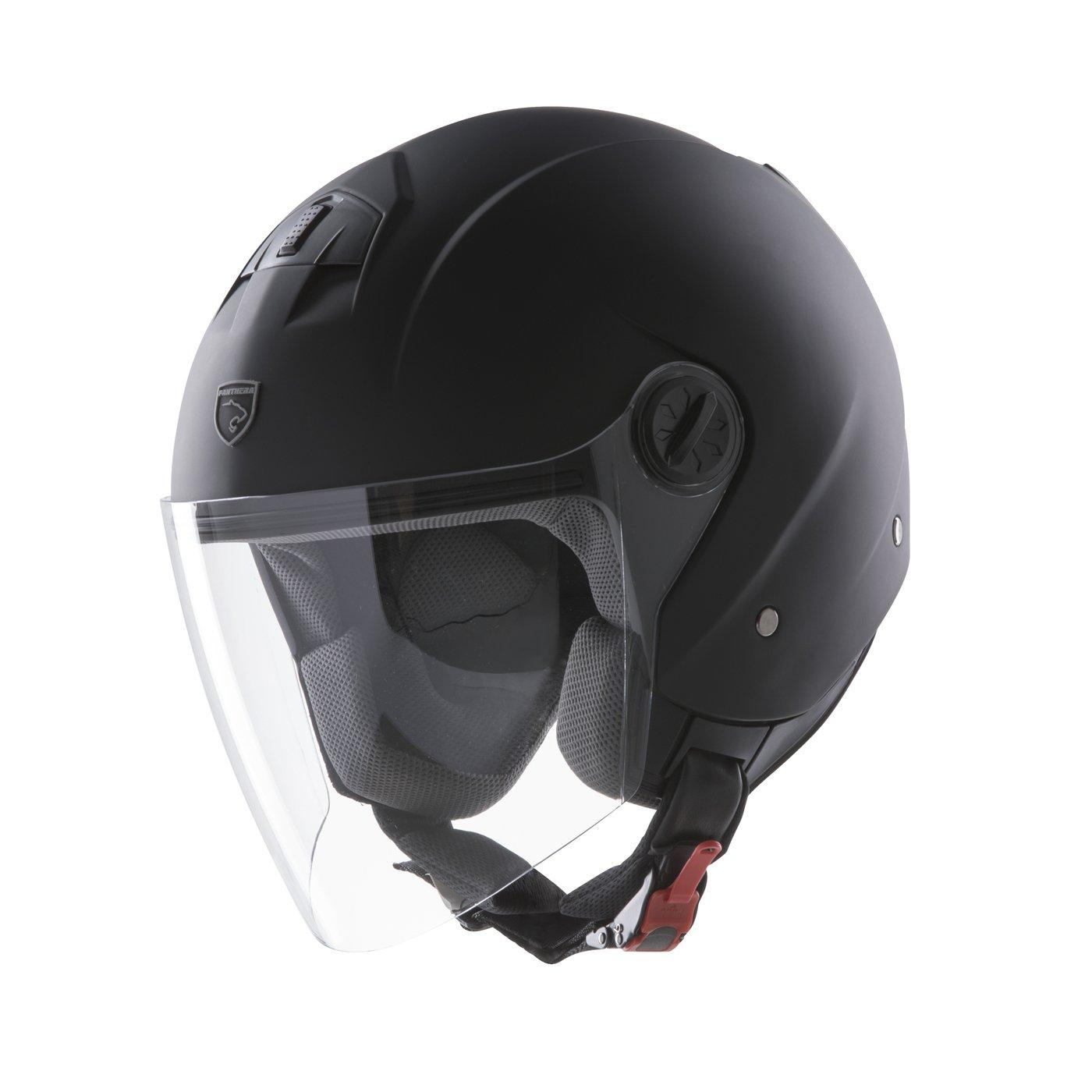 Panthera casco de moto full jet Trendy negro mate talla XL