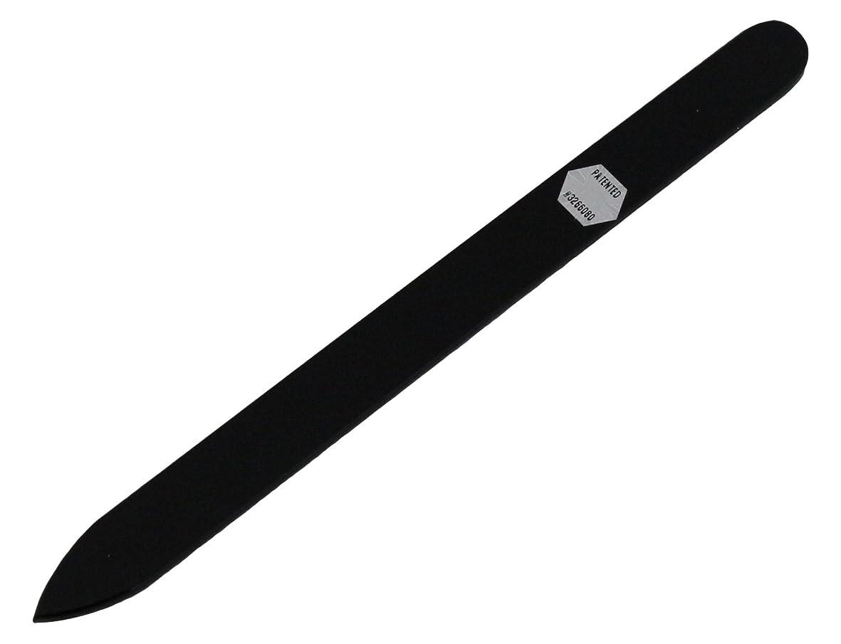 ブラジェク ガラス爪やすり 140mm 片面タイプ オールカラー ブラック B-01