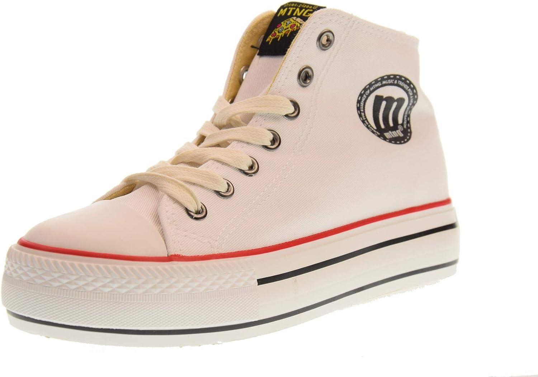 MTNG shoes Women high Platform Sneakers 69458 I222 Bigger-K White
