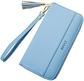 Cyanb Women Wallets Tassel Bifold Ladies Cluth Wristlet...