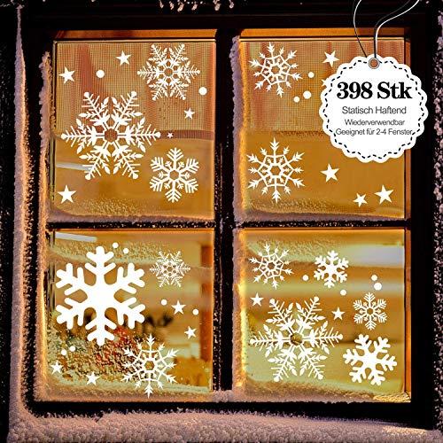 LessMo Weihnachtsfenster Aufkleber, Fensterdeko Weihnachten, Party Neujahrsbedarf, DIY-Dekorationen für Türen, Fenster und Vitrinen, Weihnachten Theme Party Neujahrsbedarf, PVC Statische Aufkleber