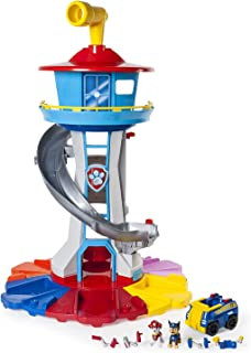 PAW Patrol My Size Lookout Tower with Exclusive Vehicle, Rotating Periscope & Lights & Sounds