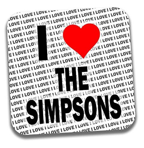 Posavasos con texto en inglés 'I Love The Simpsons', regalo de cumpleaños, Navidad, calcetín
