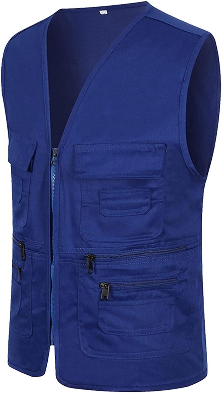 llddrz Fishing Super-cheap Max 84% OFF Vest Mens Waistcoat Gilet Waistcoa Multi-Pocketed