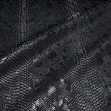 Stoff am Stück Stoff PVC Kunstleder Krokodil schwarz