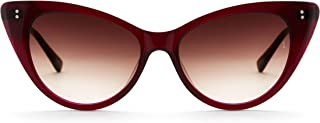 Sunday Somewhere Women's Piper Wrap Sunglasses, Red, 53 mm