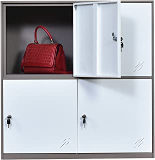 Casier en métal à 9 portes, armoire de bureau, salon et école - Rangement pour les enfants, chambre et bureau - Serrure - ...
