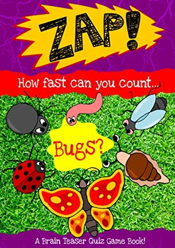 Zap How Fast Can You Count Bugs An entertaining brain teaser quiz game for kids 3 to 5 years product image