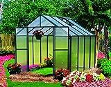 Monticello Greenhouse Premium Package, 8' x 8', Black Finish