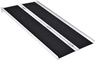 Goplus® Multi-Fold Aluminum 5' Non-Skid Wheelchair Ramp Mobility Scooter Mobility Ramp (5' x 30)
