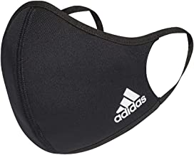adidas Standard Face Covers 3-Pack, Black, X-Small/Small
