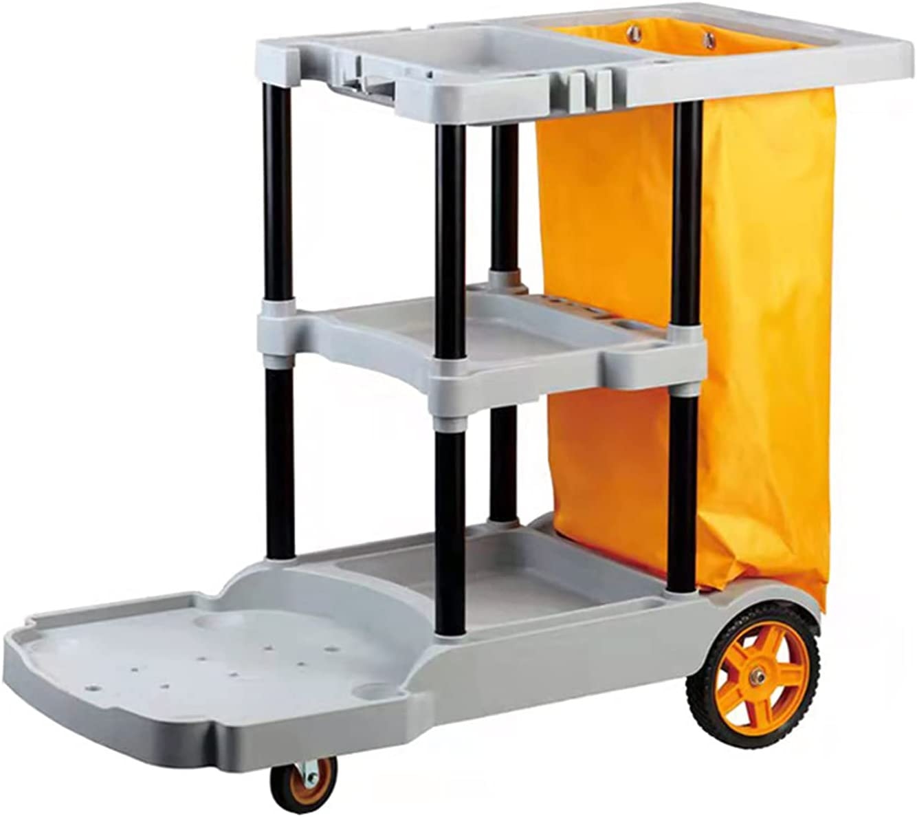 QAZXIWZ Cleaning Trolley with Waste Bag, for Hotel Restaurant Of