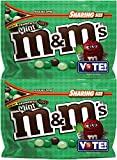 M&M's Chocolate Candy (2 Pack) Flavor Vote Crunchy Mint Sharing Size, 8 Ounce Bags