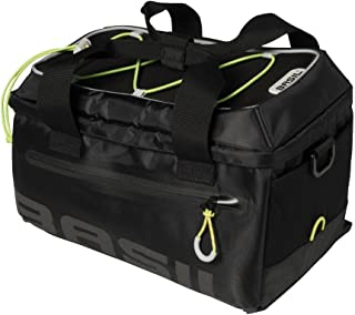 Basil Rear Cycle Bag - Miles TRUNKBAG: Black Lime 7 Litre