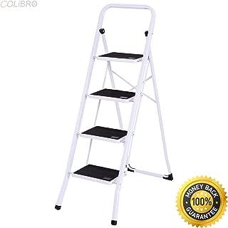 COLIBROX--4 Step Ladder Folding Steel Step Stool Anti-slip Heavy Duty with 330Lbs Capacity. folding step stools. folding step stool home depot. kitchen step ladder. heavy duty step stool with handle.