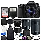 Canon EOS 80D DSLR Camera Body + Canon EF-S 18-55mm is STM & Canon...