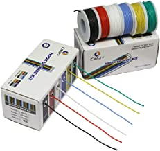 CBAZYTM Hook up Wire Kit (Stranded Wire Kit) 20 Gauge Flexible Silicone Rubber Electric Wire 6 Colors 19.6 feet Each 20 AWG