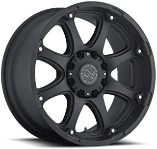 Black Rhino GLAMIS Black Wheel with Painted Finish (17 x 9. inches /8 x 6 inches, 12 mm Offset)