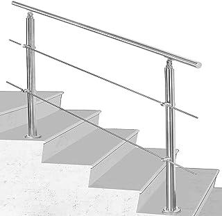 Main courante. Lot de 5/supports muraux inoxydable Ballustrade Escalier Rail