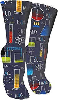 Msd8sd2w Chemistry Experiment Men's/Women's Sensitive Feet Wide Fit Crew Socks and Cotton Crew Athletic Sock