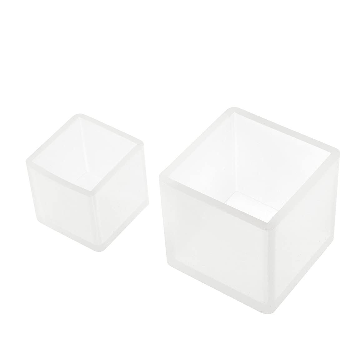 BCP 2pcs Resin Silicone Jewelry DIY Molds Square Liquid Resin Molds for Polymer Clay, Crafting, Resin Epoxy, Jewelry Making
