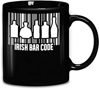 Saint Patricks Day Irish Bar Code Good Luck Alcoholic Drunk Code Coffee Mug 11oz Ceramic Tea Cups
