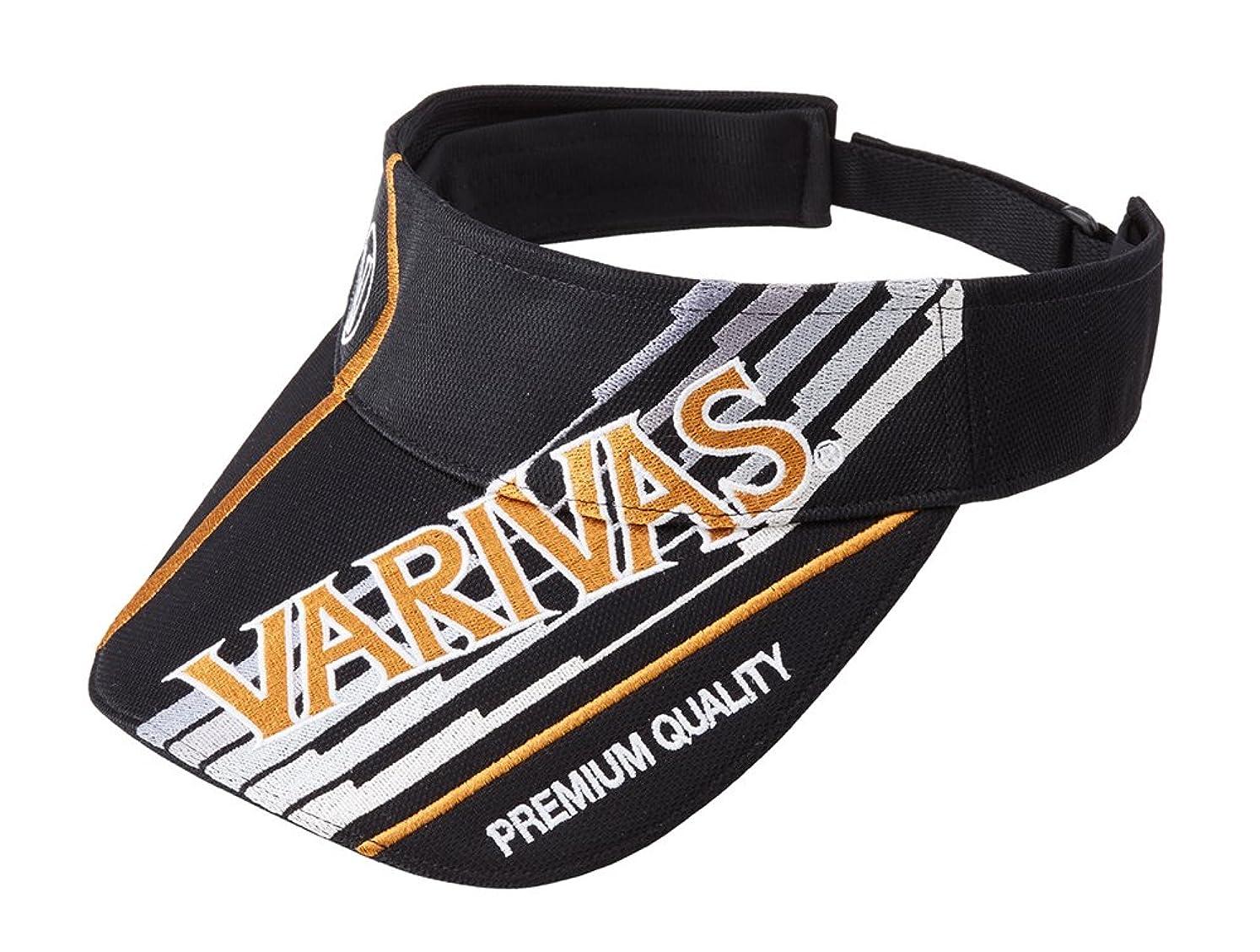思い出させるセメント晴れVARIVAS(バリバス) トーナメントサンバイザー VAC-55 ブラック×ゴールド.