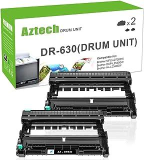 AZTECH Compatible Brother DR630 DR-630 Drum Unit for Brother HL-L2380dw DCP L2540dw for Brother MFC-L2700DW MFC-L2740dw DCP-L2540dw MFC L2700dw HL-L2360dw HL-L2300d HL-L2340dw Ink Printer Drum-2 Packs