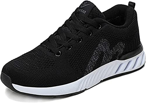 Damen-Turnschuhe, Damen-Turnschuhe, Damen-Turnschuhe, Herbst Plush Turnschuhe Mesh Running schuhe Low-top Lace-Up Damenschuhe,B,37  online