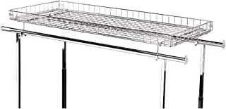 """SSWBasics Wire Basket Topper for Double Rail Clothing Rack - 52 ½ """"L x 22 ½"""" W"""