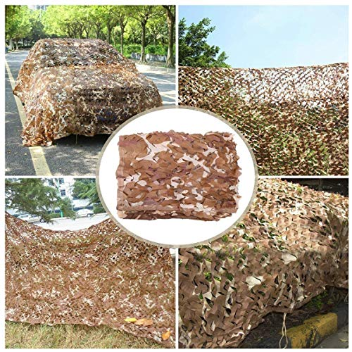 Camo Netting Brown Camouflage Net for Garden, Camouflage Mesh Reinforcement Shading Net Sunscreen Net Awnings Tent Cover for Army Shade Military Army Hunting Shooting Range Camping Outdoor Hide Car De