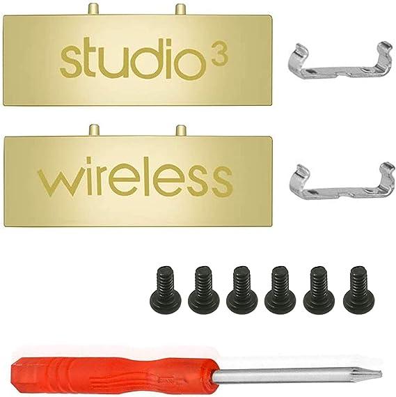 SINDERY Bisagra Piezas de Metal Conector de Diadema Compatible con Studio 3 Inalámbrico. (Oro)