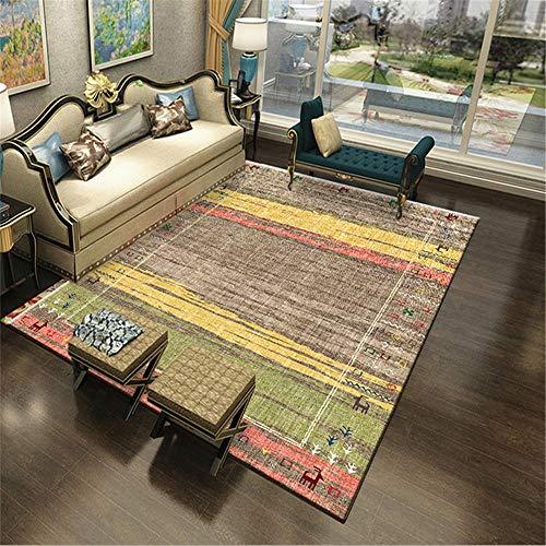Teppiche Gemütlich Gute Qualität Teppich Grüner gelbbrauner roter Teppich im modernen minimalistischen Stil im ethnischen Stil Lichtecht Schlafzimmerflur Teppich 180 * 280cm