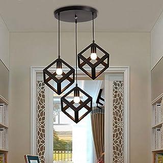 Métal Retro Suspension Luminaire Industrielle,lustre plafonnier vintage pour cuisine salon salle à manger chambre restaura...