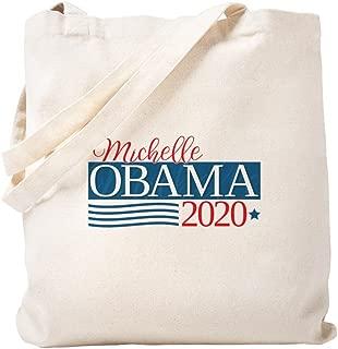 CafePress Michelle Obama 2020 Natural Canvas Tote Bag, Reusable Shopping Bag
