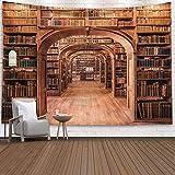 Old Bird Vintage Bücherregal Bibliothek Wandteppich Retro
